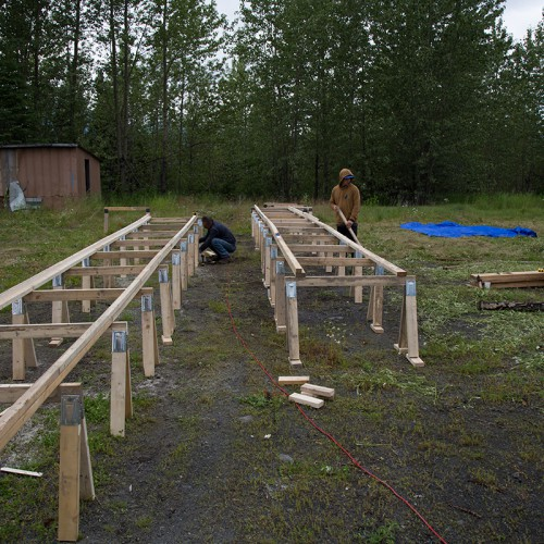 Building core benches.